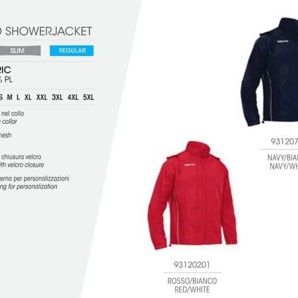 Куртка спортивная TULSA full zip Showerjacket (Macron)